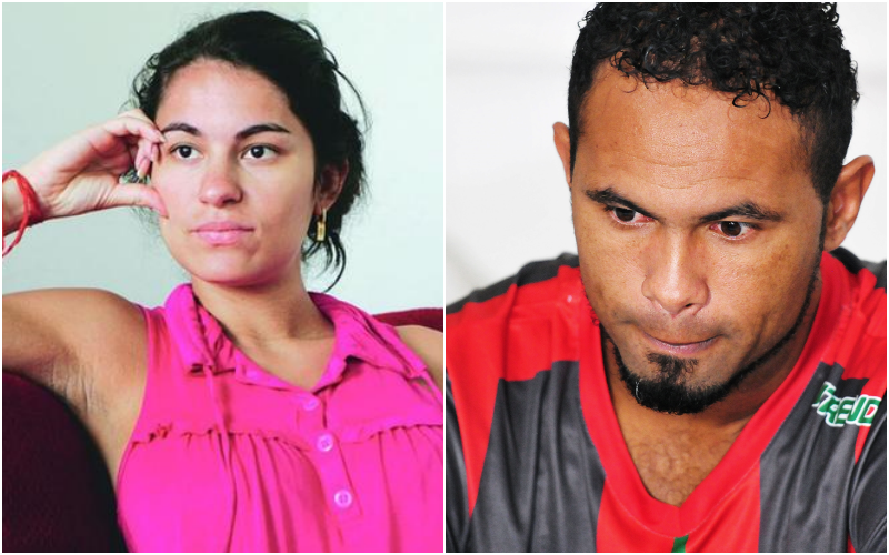 Eliza Samudio e o condenado pelo assassinato da modelo, o ex-goleiro do Flamengo (Foto: Montagem TV Foco)