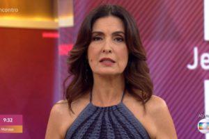 A apresentadora do Encontro com Fátima Bernardes foi pega de surpresa na manhã desta segunda-feira (Foto: reprodução)