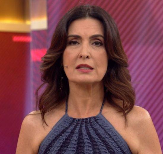 A apresentadora do Encontro com Fátima Bernardes foi pega de surpresa (Foto: reprodução)