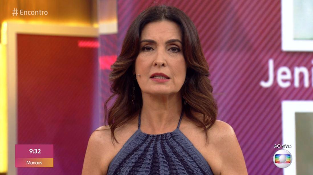 A apresentadora do Encontro com Fátima Bernardes da Globo foi pega de surpresa na manhã desta segunda-feira (Foto: reprodução)