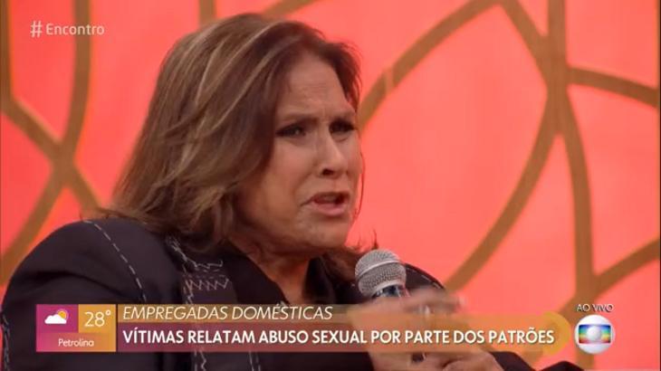Fafá de Belém acabou sendo detonada nas redes sociais ao participar de debate no Encontro (Foto: Reprodução/Globo)