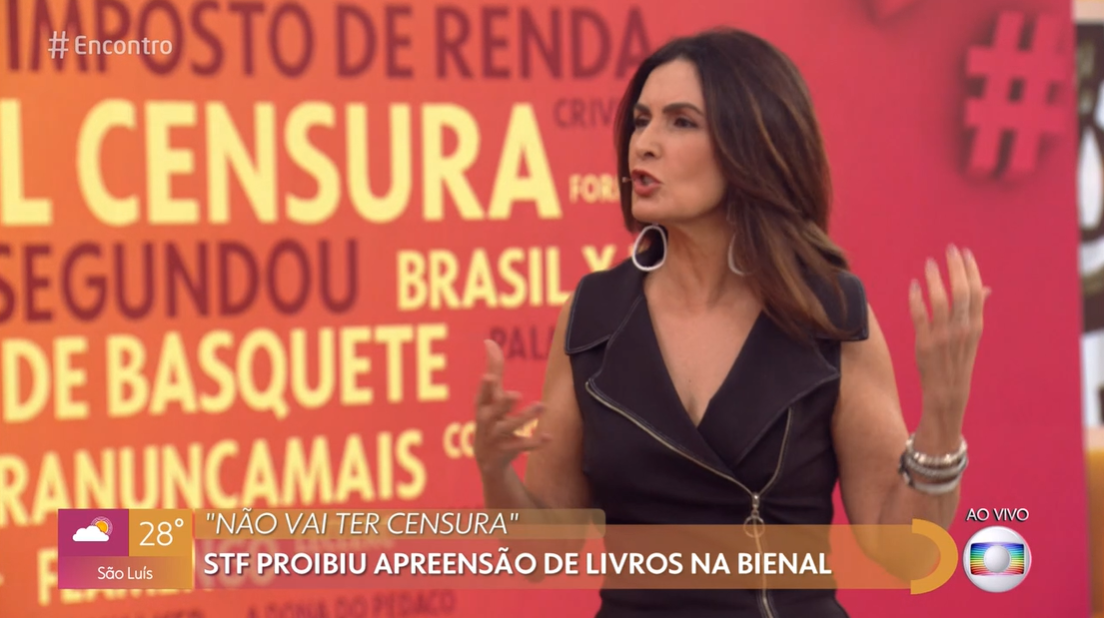 O programa da Globo, Encontro com Fátima Bernardes fez severas críticas ao STF (Foto: Reprodução Globoplay)