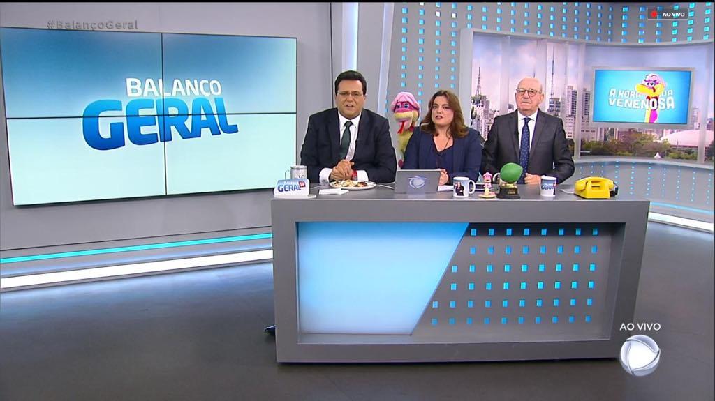 Geraldo Luís, Fabíola Reipert e Renato Lombardi (Imagem: Reprodução)