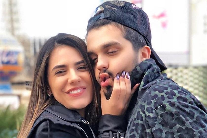 Jade Magalhães e o sertanejo Luan Santana (Foto: Divulgação)