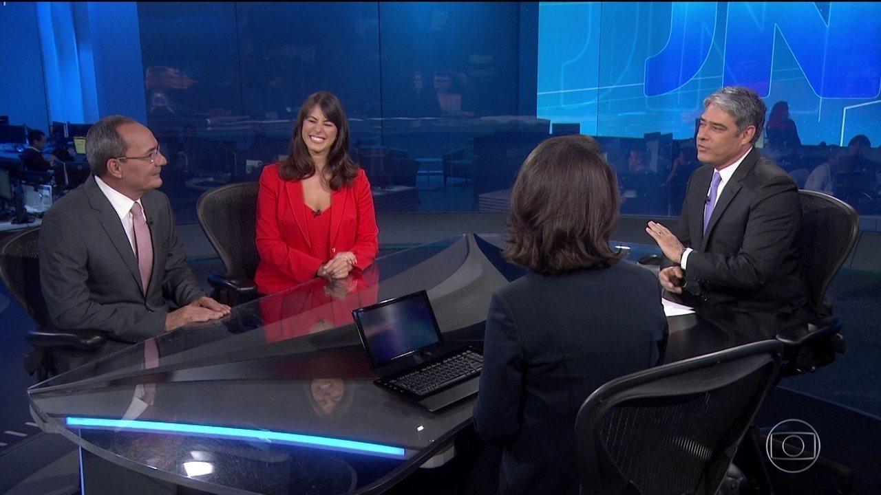 Jéssica Senra, Ayres Rocha, Renata Vasconcellos e William Bonner (Foto: Divulgação/TV Globo)