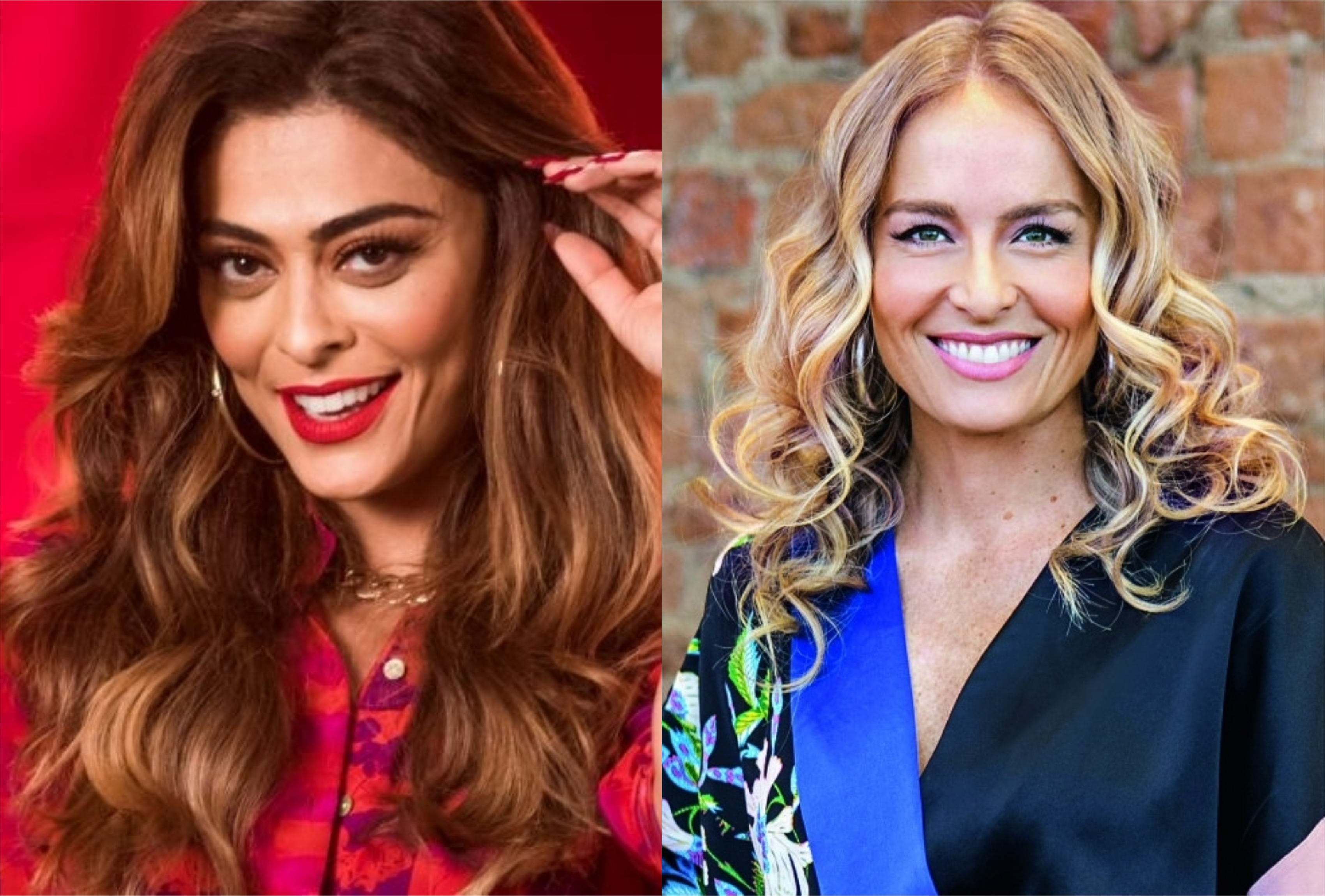 Juliana Paes e Angélica vão contracenar juntas em A Dona do Pedaço (Montagem: TV Foco)