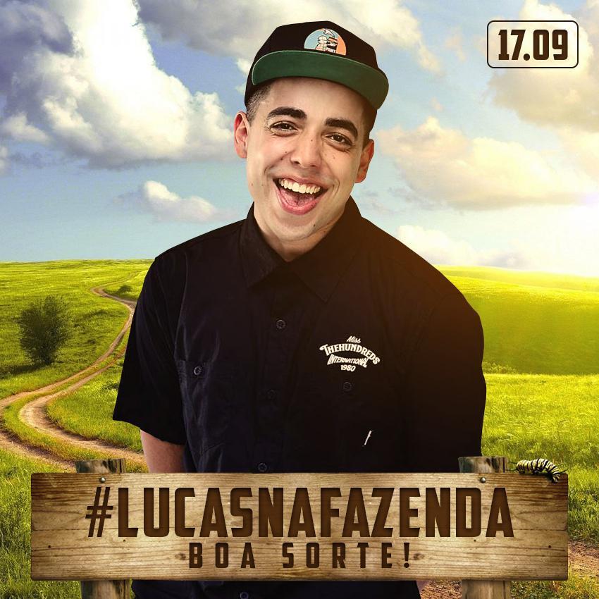 Lucas Maciel vai encarar a fida dura de uma fazenda em programa da MTV (Foto: Reprodução)
