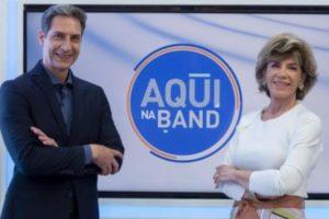 Luís Ernesto Lacombe e Silvia Poppovic (Foto: Divulgação/Band)