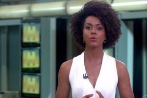 Maju Coutinho globo como apresentadora titular do Jornal Hoje (Foto: Reprodução)