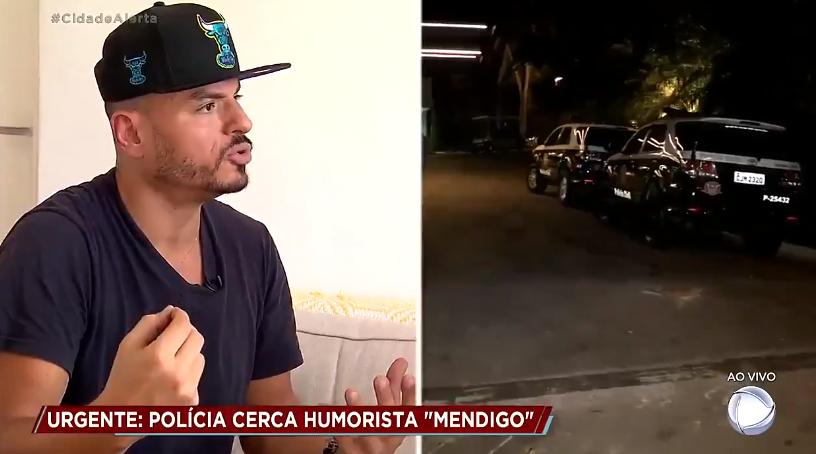 """Carlinhos Silva, Mendigo, se negou a pagar pensão do filho e perseguição foi mostrada no """"Cidade Alerta"""" (Foto: Reprodução/Twitter)"""
