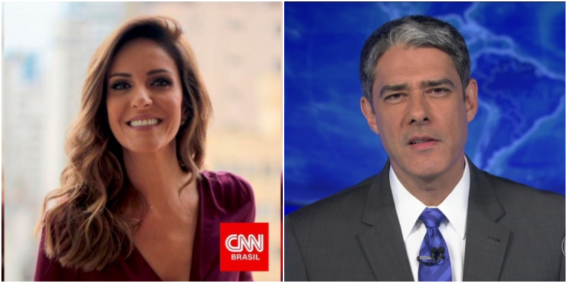 A ex-apresentadora da Globo, Monalisa Perrone agora está na CNN Brasil e ameça William Bonner (Foto: Reprodução/CNN Brasil)