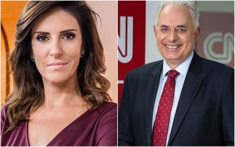 Os ex-apresentadores da Globo, Monalisa Perrone e William Waack comandaram jornal na CNN Brasil (Foto: Montagem TV Foco)