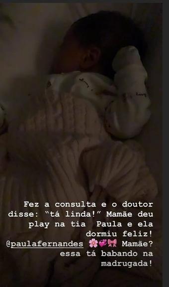 Publicação realizada por Claudia Leitte em seu stories no Instagram