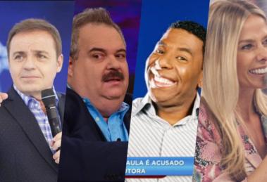 Com fim do Domingo Show, Gugu, Netinho, Gilberto Barracos e Adriane Galisteu podem comandar programa na Record (Foto montagem)