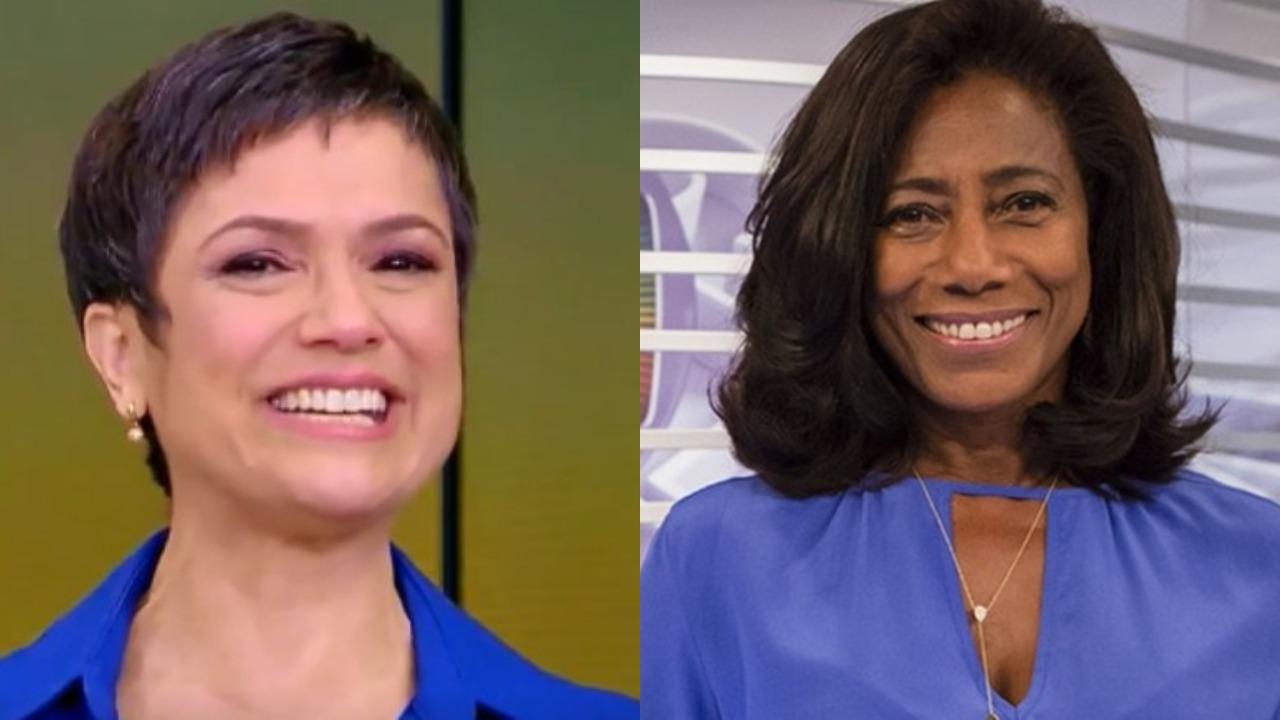 """Sandra Annenberg e Gloria Maria surgiram juntas pela primeira vez no """"Globo Repórter"""" (Foto: Reprodução/Globoplay/Montagem TV Foco)"""