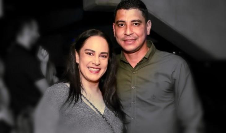 Silvia Abravanel com o seu atual namorado, o policial militar Vinícius de Oliveira (Foto: Divulgação/R7)