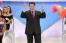 Silvio Santos em seu programa no SBT, que teve a maior audiência fora da Globo (Foto: Lourival Ribeiro/SBT)