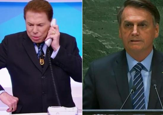 Não é novidade para ninguém que Silvio Santos é um grande apoiar de Jair Bolsonaro (Foto: Reprodução)