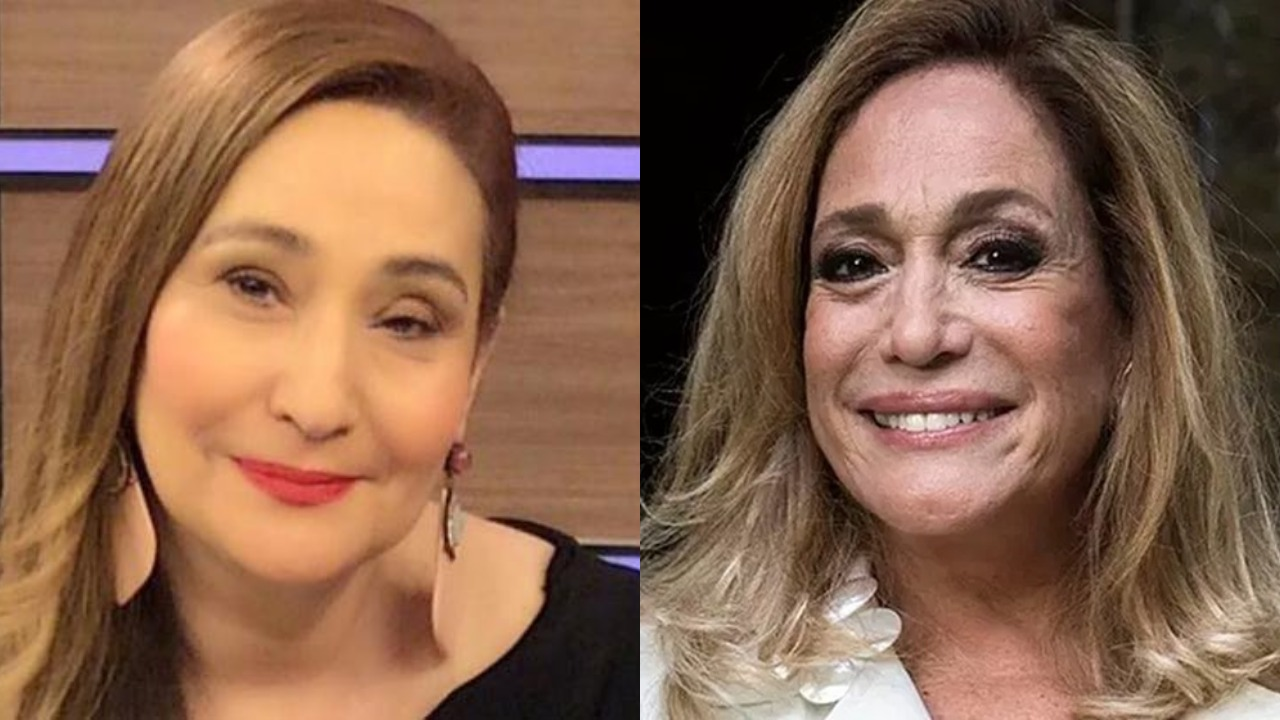 """Sonia Abrão e Susana Vieira trocaram farpas durante o """"A Tarde é Sua"""" (Foto: Reprodução/Montagem TV Foco)"""