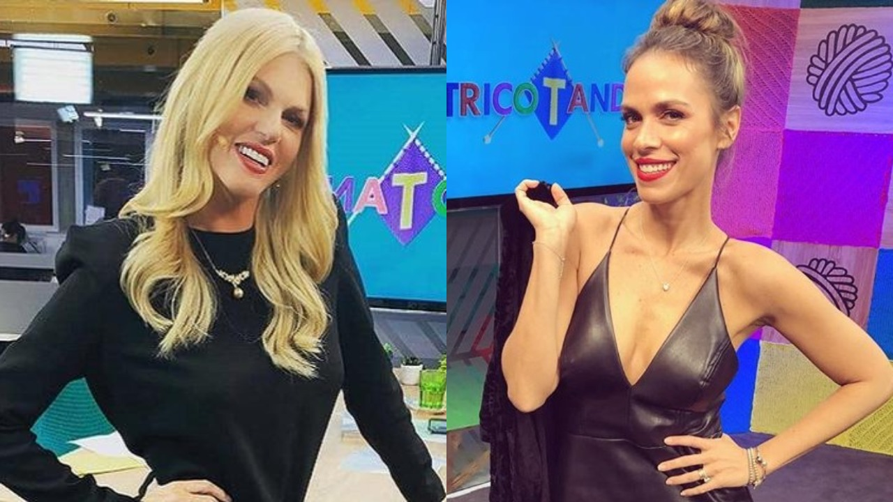 """Val Marchiori e Lígia Mendes não se deram muito bem no """"Tricotando"""" de hoje (Foto: Reprodução/Instagram/Montagem TV Foco)"""