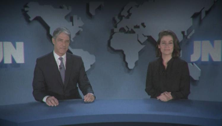 William Bonner e Renata Vasconellos (Foto: Reprodução/Globoplay)