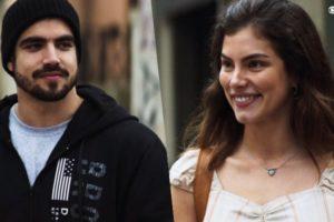 Foto montagem criada pelo TV Foco de Rock e Joana se encarando em cena da novela A Dona do Pedaço