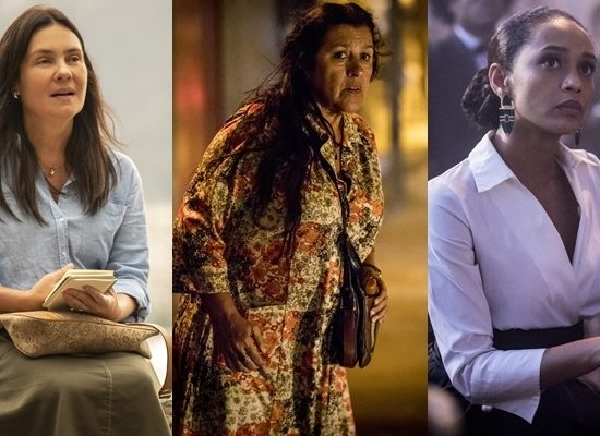 Adriana Esteves (Thelma), Regina Casé (Lurdes) e Taís Araújo (Vitória) são as protagonistas de Amor de Mãe (Foto: Globo/João Cotta)