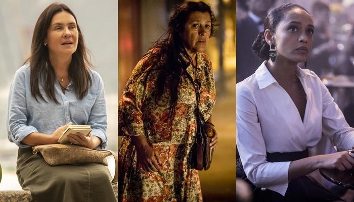 Adriana Esteves (Thelma), Regina Casé (Lurdes) e Taís Araújo (Vitória) são as protagonistas de Amor de Mãe (Foto: Globo /João Cotta)