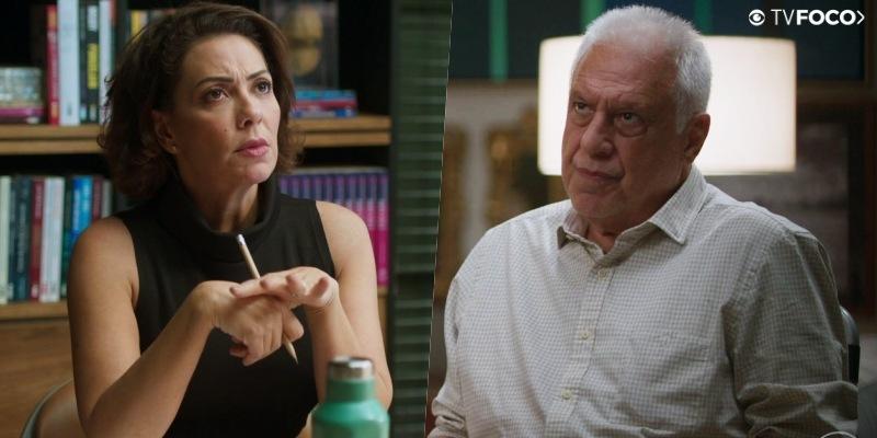 Alberto (Antonio Fagundes) e Nana (Fabiula Nascimento) em Bom Sucesso (Foto: Reprodução/Globo/Montagem TV Foco)