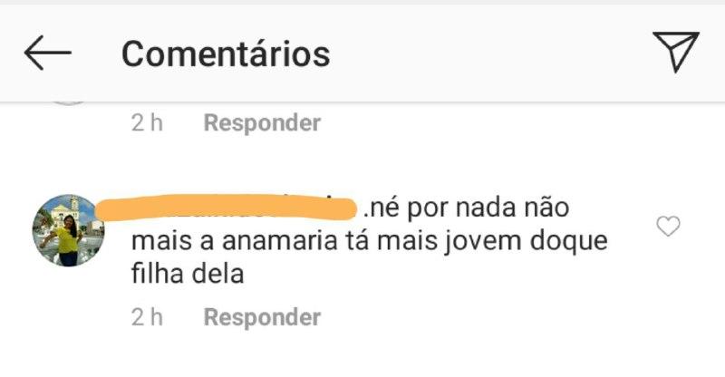 Ana Maria Braga foi elogiada por internauta que criticou a filha da apresentadora