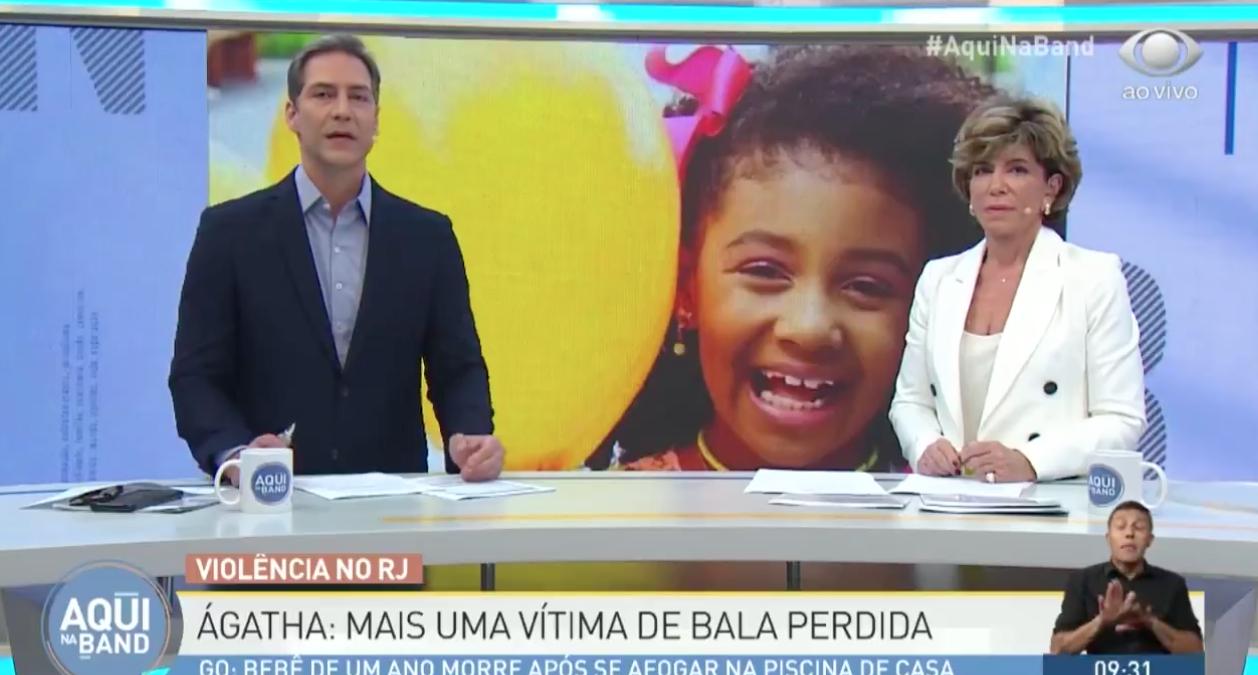 Ernesto Lacombe e Silvia Poppovic discutiram ao vivo (Foto: Divulgação)