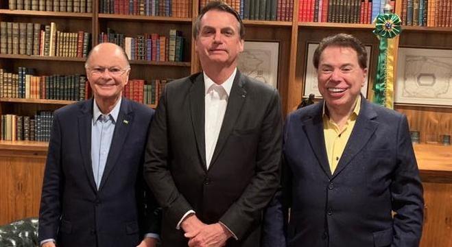 Edir Macedo, Jair Bolsonaro e Silvio Santos (Foto: Divulgação/R7)