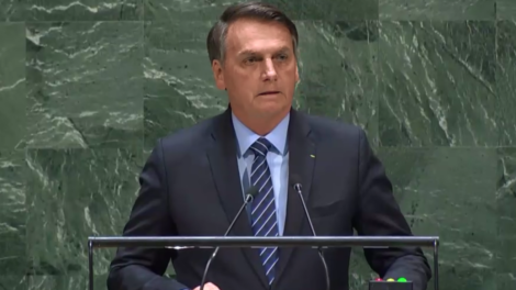 O presidente Jair Bolsonaro discursou na ONU, mas não agradou a Globo (Foto: Reprodução)