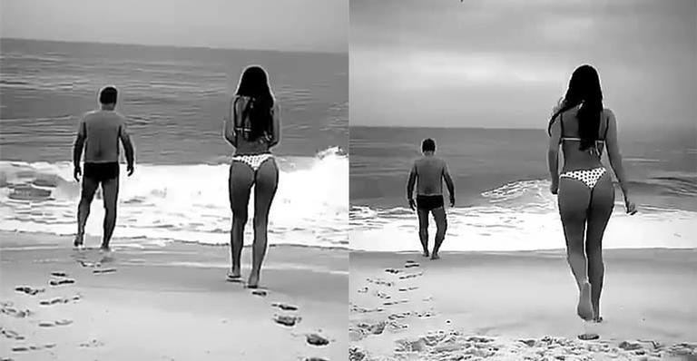 Bruna Marquezine curtiu a praia com os pais. Foto: Reprodução