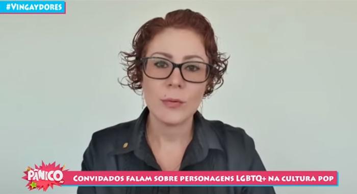 Carla Zambelli, deputada do PSL, acusou Felipe Neto durante o programa Pânico (Foto: Reprodução/Youtube)