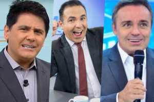 César Filho, Reinaldo Gottino e Gugu viraram assunto nos bastidores da Record (Foto montagem: TV Foco)