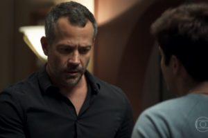 Agno e Leandro em cena da novela A Dona do Pedaço (Foto: Reprodução)