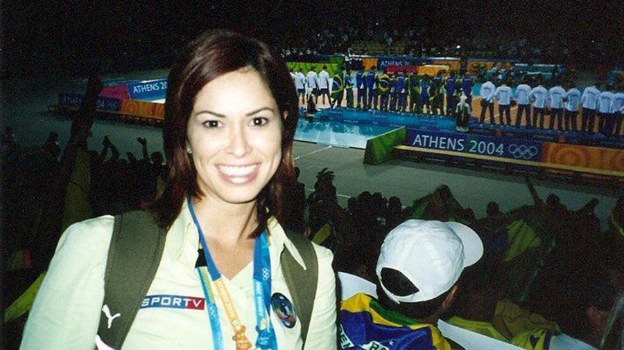 Delisiée Marinho foi repórter esportiva da Globo e produziu matérias para o Jornal Nacional (Reprodução)