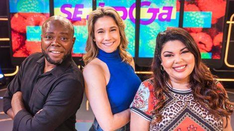 Érico Brás, Fernanda Gentil e Fabiana Karla no Se Joga (Foto: Globo/ Victor Pollak)