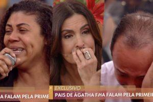 Fátima Bernardes recebeu pais da menina Ágatha (Foto reprodução)