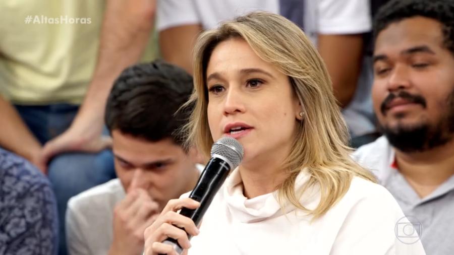 Fernanda Gentil faz apelo após divulgação precoce da morte de Gugu (Foto: Divulgação/ Globo)