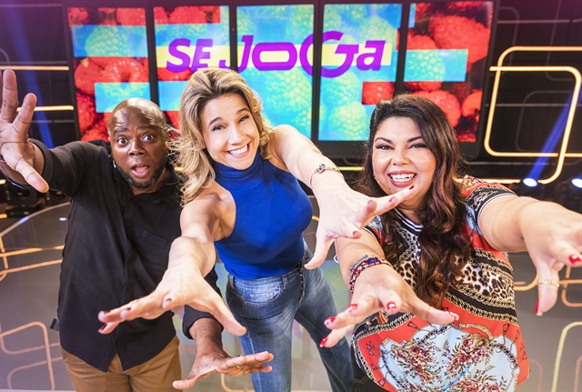Érico Brás, Fernanda Gentil e Fabiana Karla no programa Se Joga (Foto: Globo/Victor Pollak)