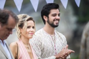 Bruno (Rodrigo Simas), Teresa (Leona Cavalli) e Norberto (Guilherme Fontes) em Órfãos da Terra (Foto: Globo/Raquel Cunha)