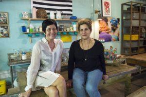 As autoras de Órfãos da Terra, Thelma Guedes e Duca Rachid (Foto: Globo/Estevam Avellar)