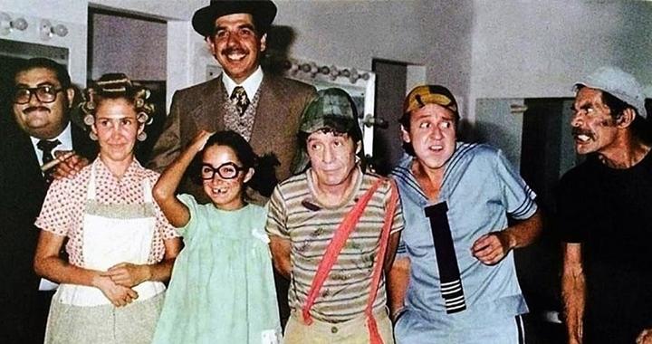 Parte do elenco de Chaves reunido. (Foto: Reprodução)