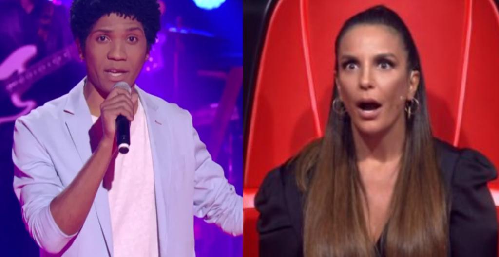 Ivete Sangalo surpreende candidato no The Voice Brasil (Foto: Reprodução)