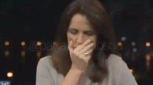 Jornalista da Globo se emociona após reportagem (Foto: Reprodução)