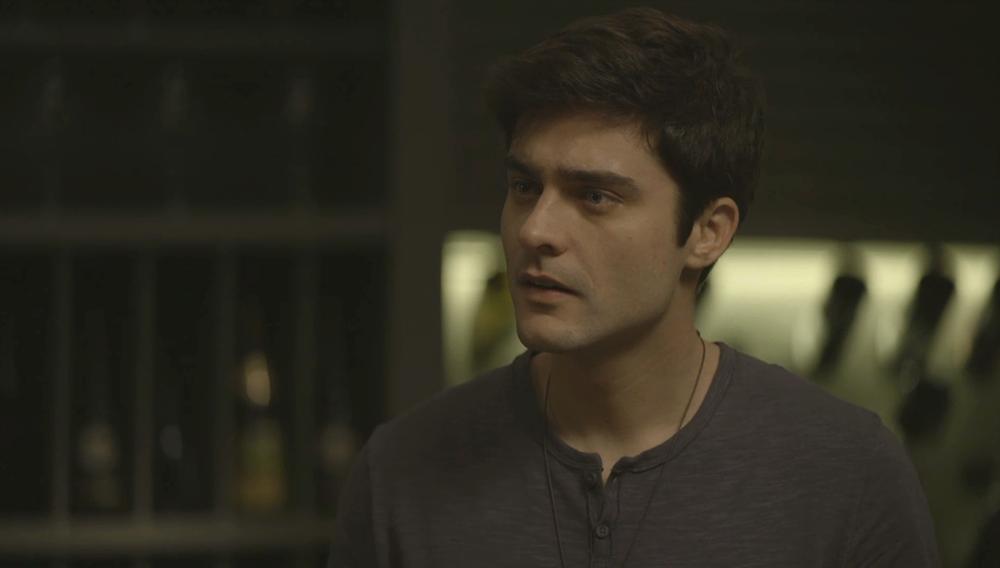Leandro em cena da novela das 21h da Globo, A Dona do Pedaço (Foto: Reprodução)