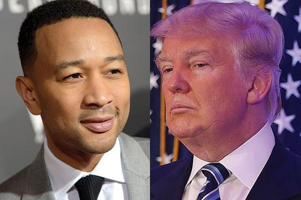 Donal Trump e John Legend travam batalha nas redes sociais (Foto: Reprodução)