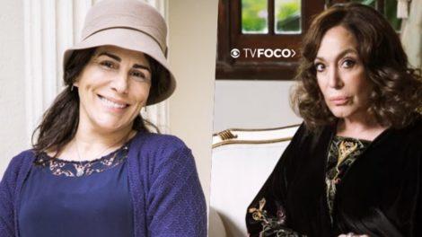 Foto Montagem do TV Foco tem Lola (Gloria Pires) em paralelo com Emília (Susana Vieira) de Éramos Seis